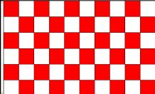 CHECKERED RED & WHITE - 5 X 3 FLAG